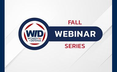 """The WID logo with the words """"Fall Webinar Series"""" in blue and red font over a white background."""